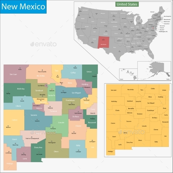GraphicRiver New Mexico Map 11481017