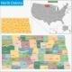 North Dakota Map - GraphicRiver Item for Sale