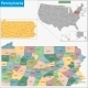 Pennsylvania Map - GraphicRiver Item for Sale