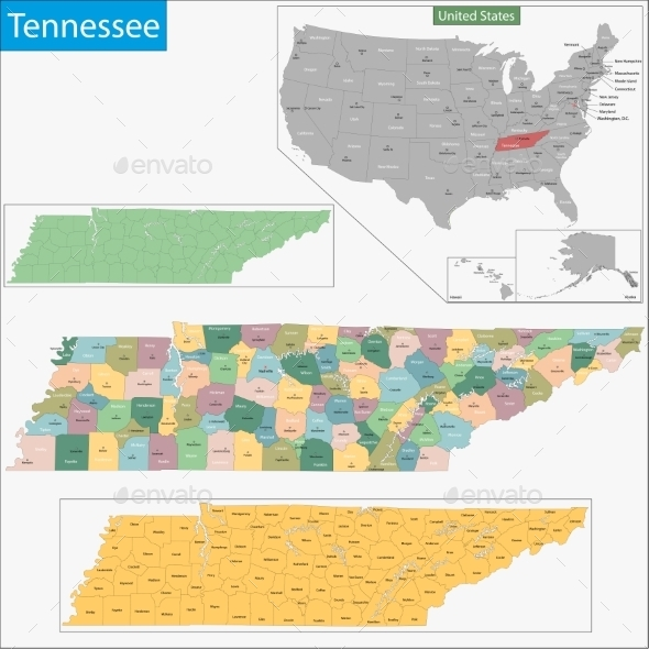 GraphicRiver Tennessee Map 11481053