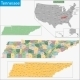 Tennessee Map - GraphicRiver Item for Sale