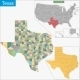 Texas Map - GraphicRiver Item for Sale