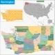 Washington Map - GraphicRiver Item for Sale