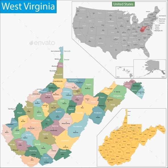 GraphicRiver West Virginia Map 11481064
