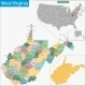 West Virginia Map - GraphicRiver Item for Sale