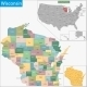 Wisconsin Map - GraphicRiver Item for Sale