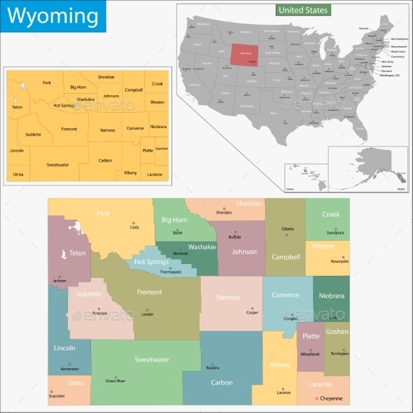 GraphicRiver Wyoming Map 11481067