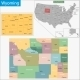 Wyoming Map - GraphicRiver Item for Sale
