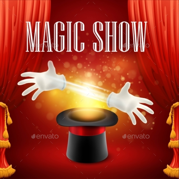 GraphicRiver Magic Trick Performance Circus Show Concept 11481080