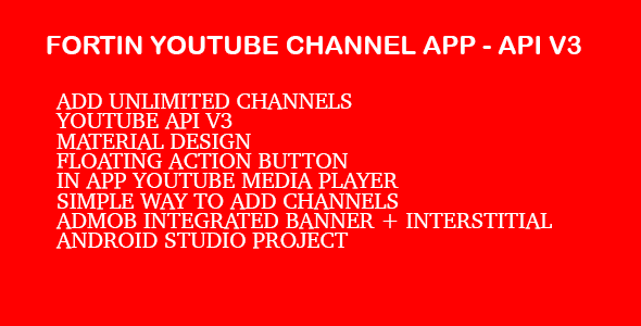 CodeCanyon Fortin Video Channel App Youtube Api V3 11481105