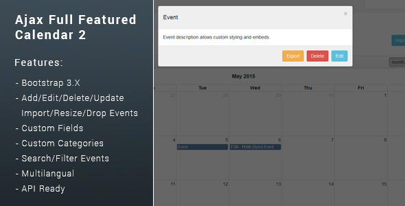 Download Ajax Full Featured Calendar 2 nulled download