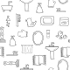 Seamless Hand Drawn Bathroom Background - GraphicRiver Item for Sale