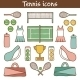 Set Of Hand Drawn Tennis Icons - GraphicRiver Item for Sale