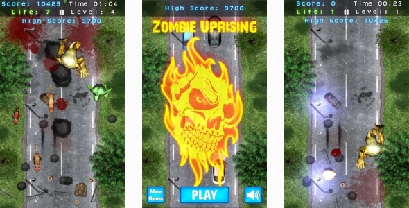 CodeCanyon Zombie Uprising HTML5 Mobile game Capx 11481375