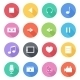 Set Of Flat Multimedia Icons - GraphicRiver Item for Sale