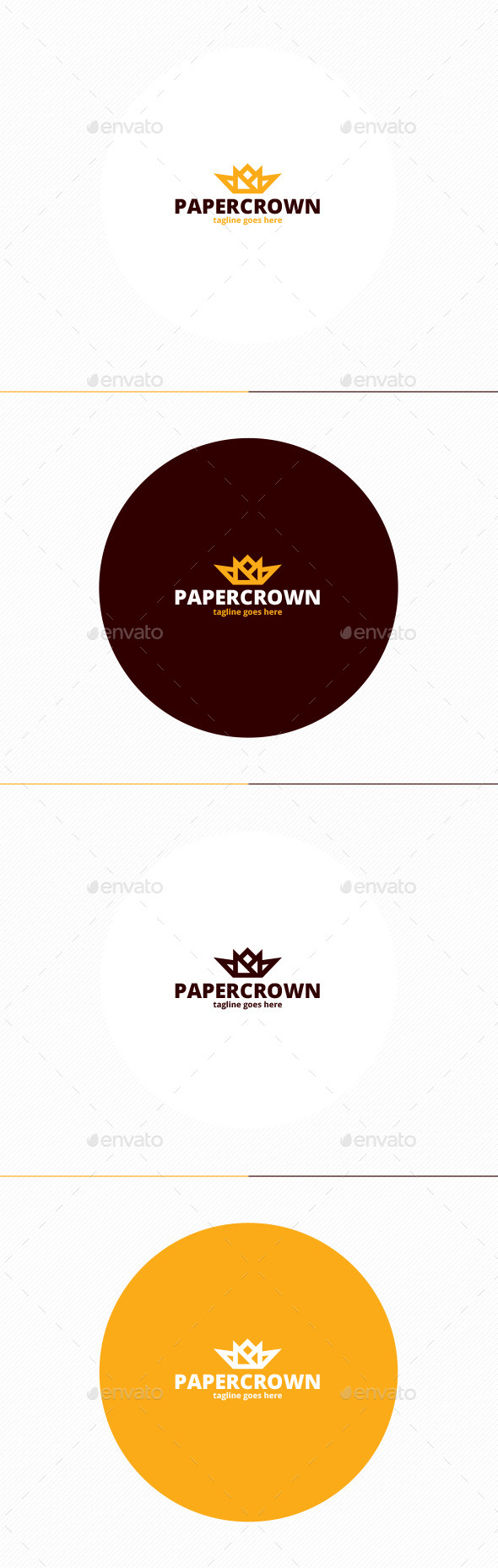 GraphicRiver Paper Crown Logo 11481739