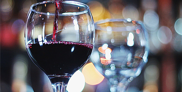 Bartender Pours Red Wine