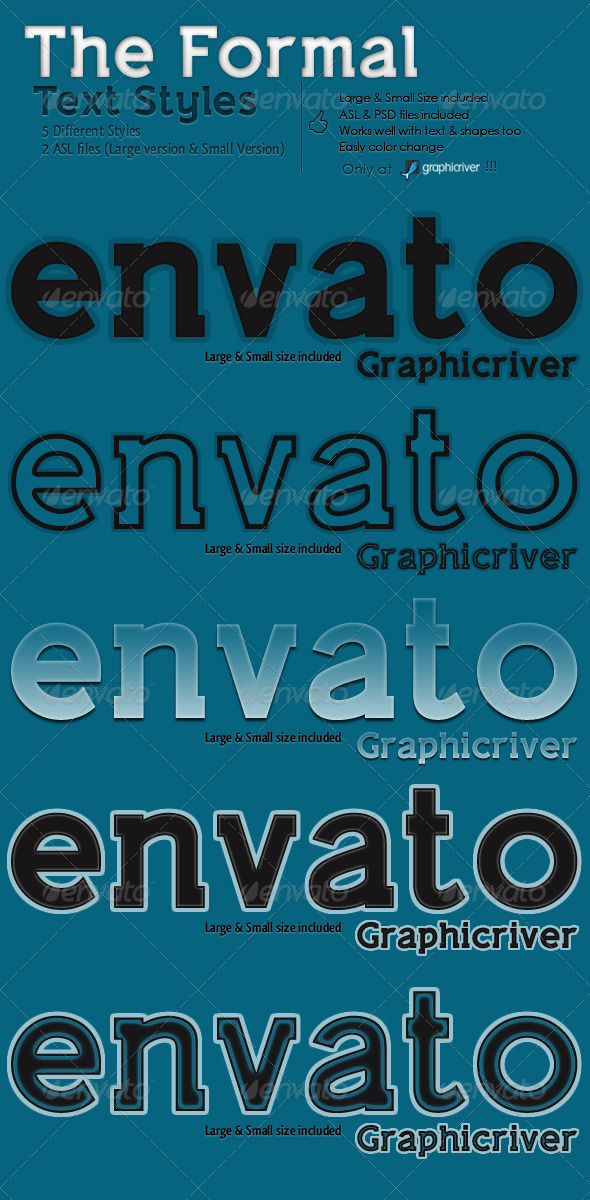 GraphicRiver The Formal Text Styles 141737