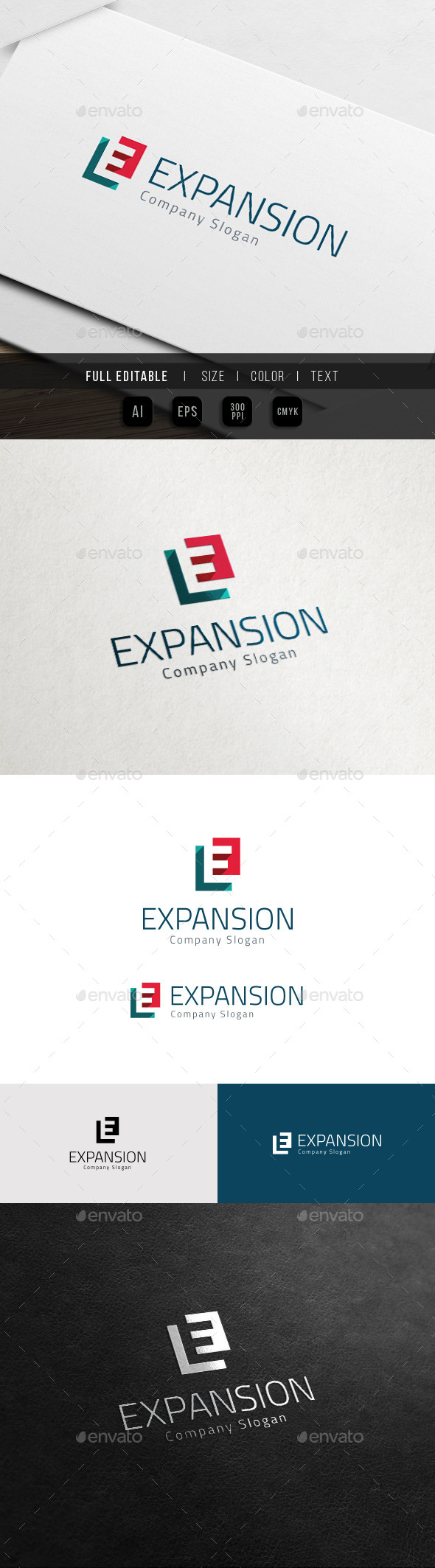GraphicRiver Ex Media Marketing and Finance E logo 11482110