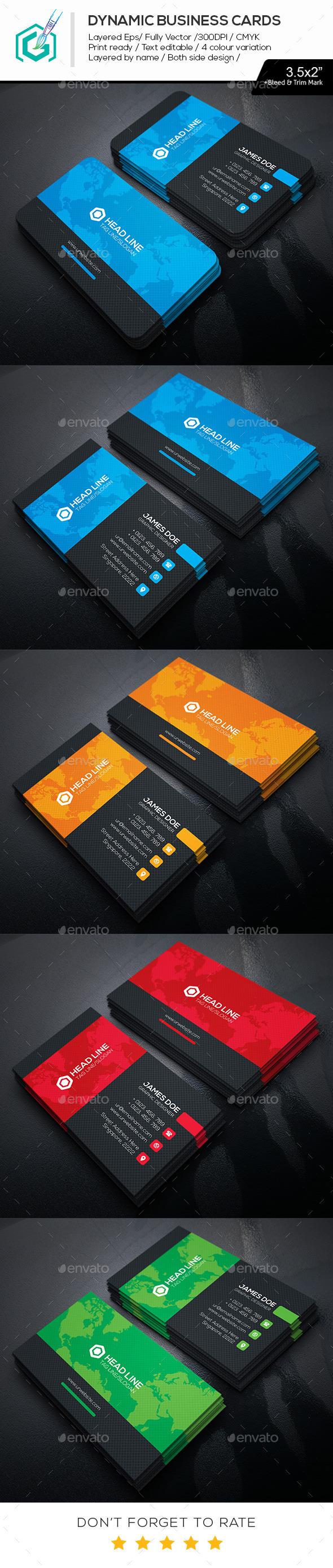GraphicRiver Dynamic Business Cards 11482197