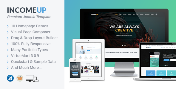 ThemeForest IncomeUp Multipurpose Business Joomla Template 11482333