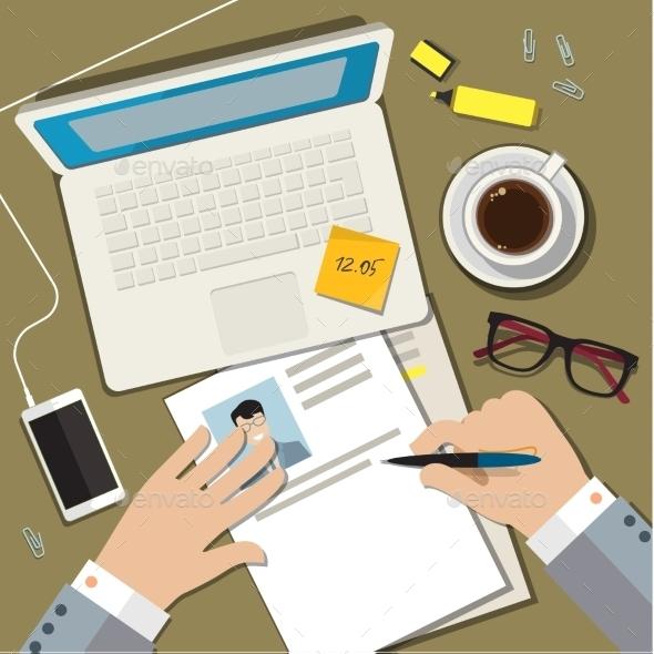 GraphicRiver Writing a Business Cv Resume Concept 11484481