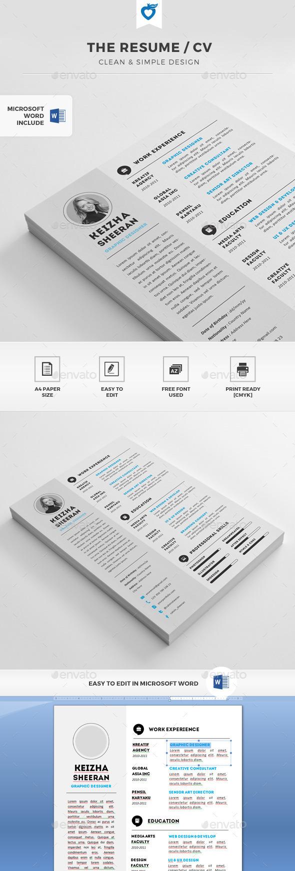 GraphicRiver The Resume CV 11408735