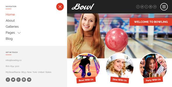 ThemeForest BOWL Responsive Bowling Center HTML Template 11484617