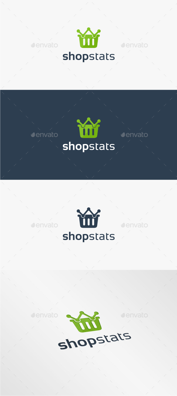GraphicRiver Shop Stats Logo Template 11484637