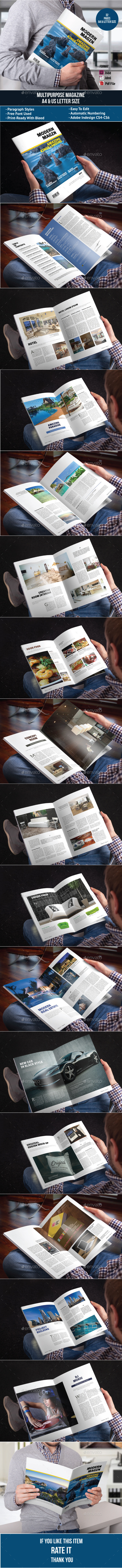 GraphicRiver Multipurpose Magazine 11487414