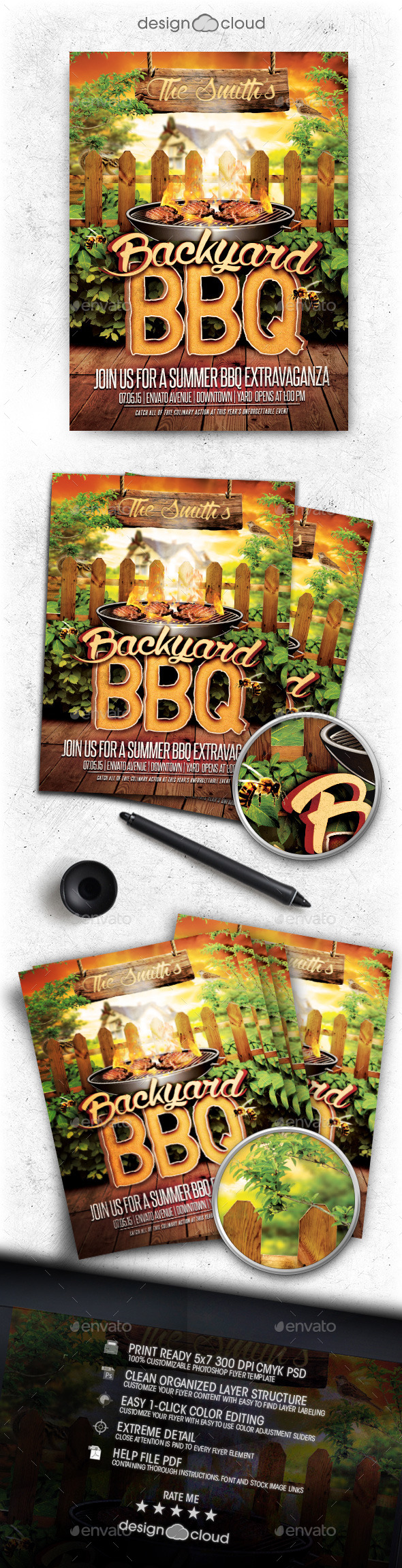 GraphicRiver Backyard BBQ Flyer Template 11488623