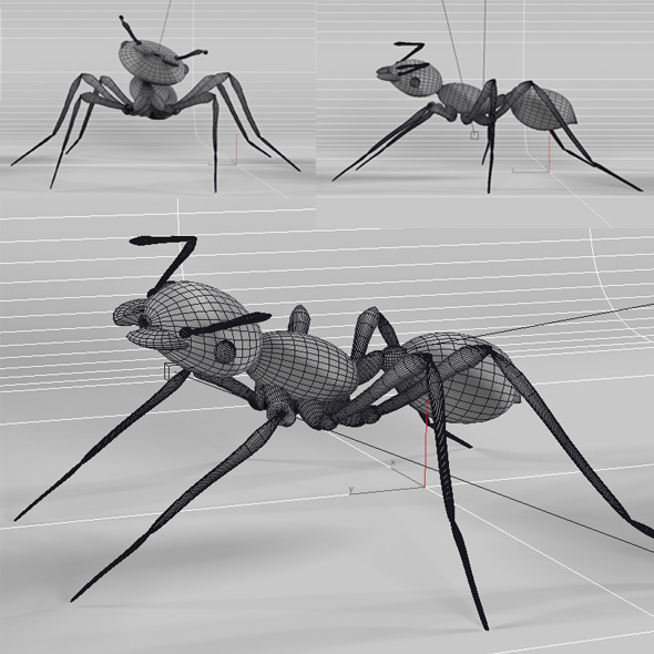 3DOcean Ant Low Poly 11488855