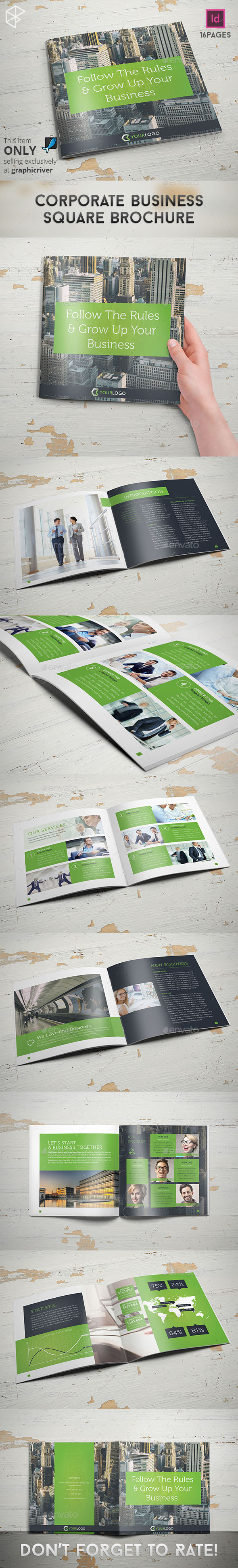 GraphicRiver Corporate Business Square Brochure 11488891