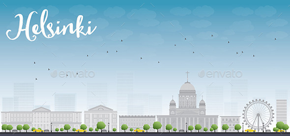GraphicRiver Panorama of Old Town in Helsinki Finland 11489139