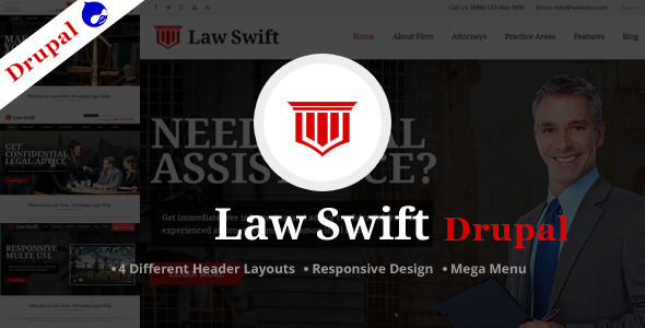 ThemeForest Law Swift Multipurpose Drupal Theme 11489218