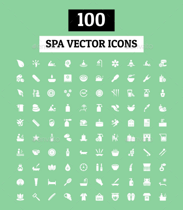 GraphicRiver 100 Spa Vector Icons 11489448