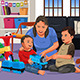 Mother Playing with Her Kids - GraphicRiver Item for Sale