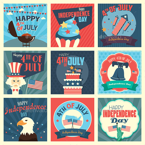 GraphicRiver Fourth of July Icons 11489506