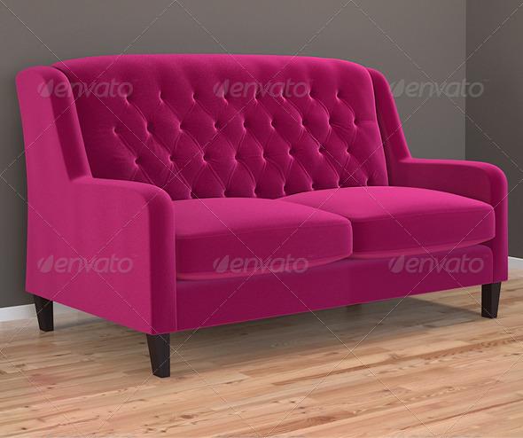3DOcean Bladon sofa in Cleves velvet 141767
