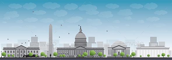 GraphicRiver Washington DC City Skyline 11489660