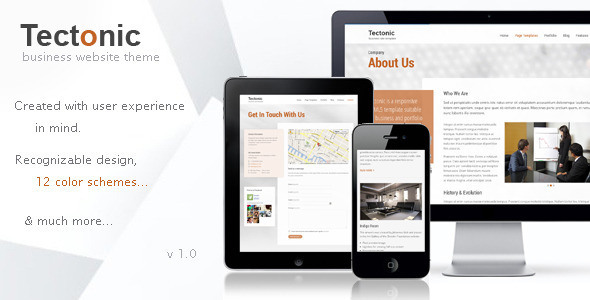 ThemeForest Tectonic Responsive WordPress Theme 11352170