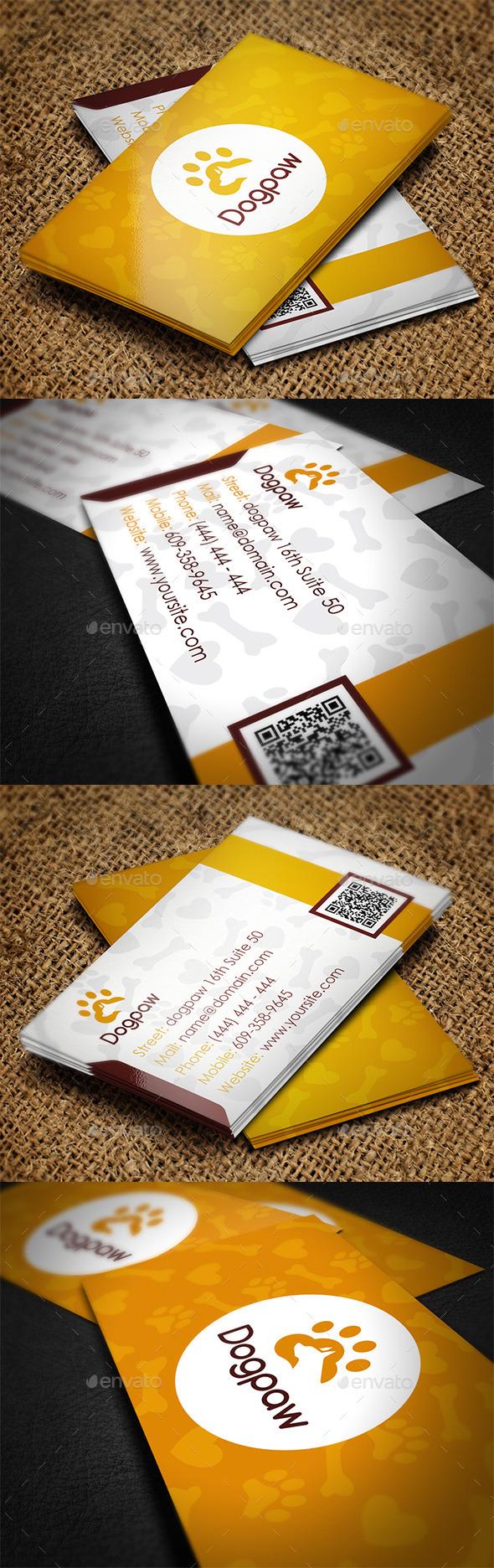 GraphicRiver Pet Shop Business Card 11490089