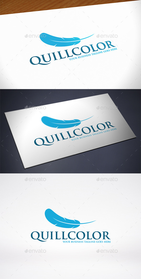 Quill Logo Template