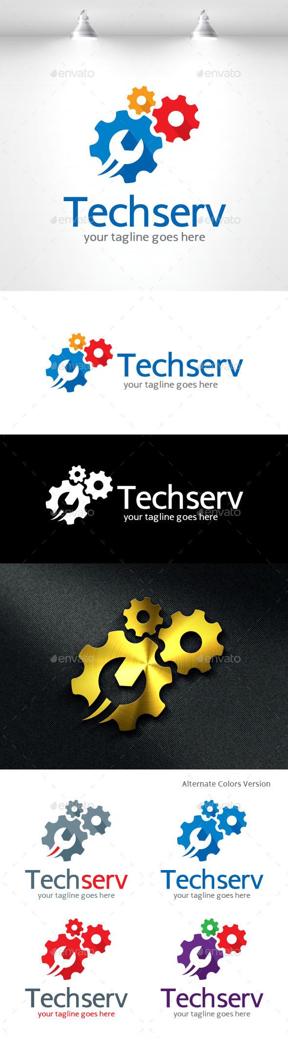 GraphicRiver Tech Service Logo 11490268