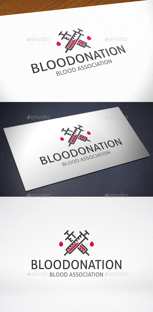 GraphicRiver Blood Donation Design Logo Template 11490340