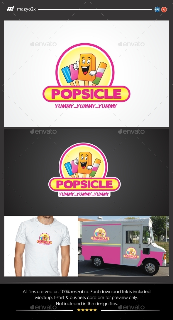 GraphicRiver Popsicle Logo 11490376