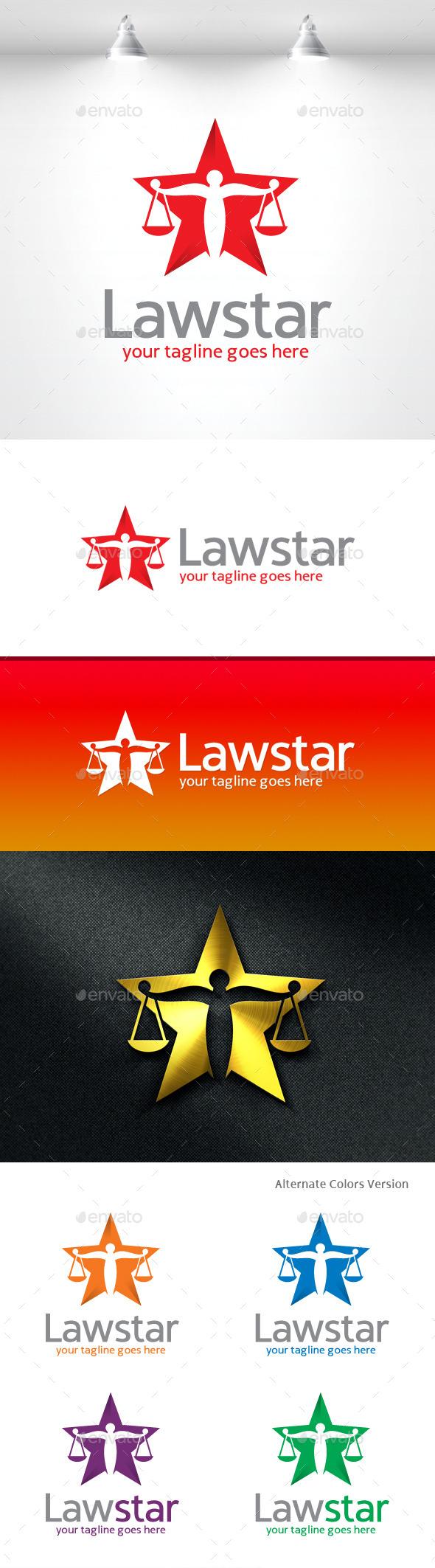 GraphicRiver Law Star Logo 11490407