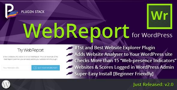 CodeCanyon WebReport Website Analytics Explorer for WordPress 11444651