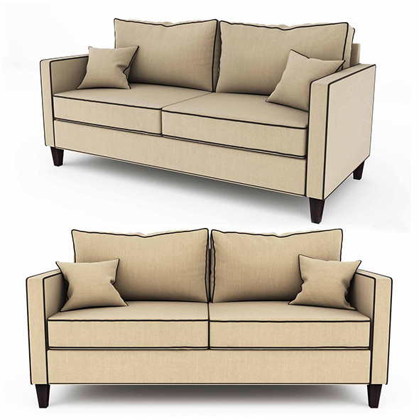 Jackson Sofa - 3DOcean Item for Sale