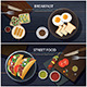 Breakfast and Street Food Banner  - GraphicRiver Item for Sale